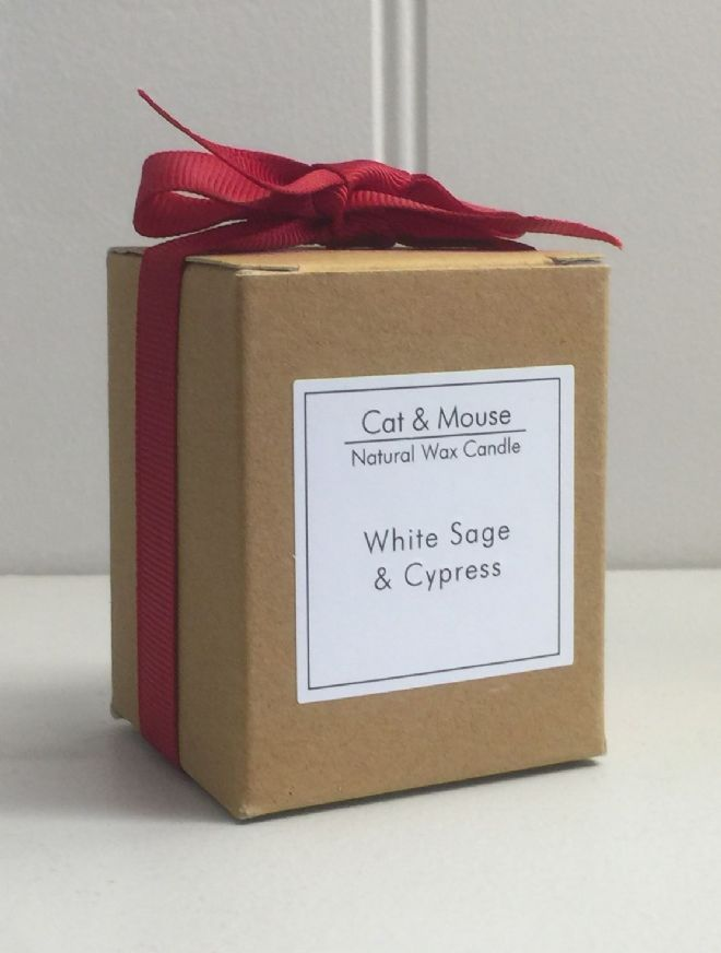 Scented Candle  9cl in a Gift Box - White Sage & Cypress